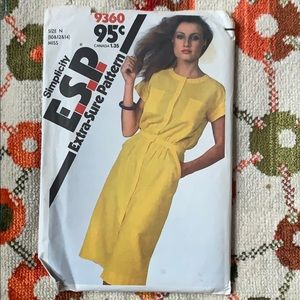 Vintage E.S.P Dress Sewing Pattern